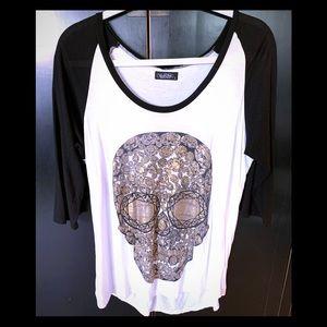Tops - Lauren Noshi Skull Jersey